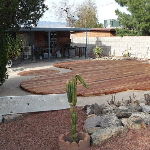 Covering a retired swim pool and spa vs filling in for Repurposed swimming pool