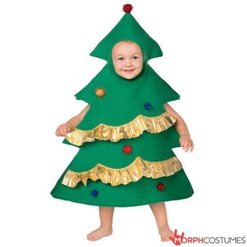 Christmas Tree Kids Fancy Dress Costume Boys Girls Xmas Tree Outfit Size S Boyscostumes Costum Tree Costume Christmas Tree Costume Christmas Tree Costume Diy