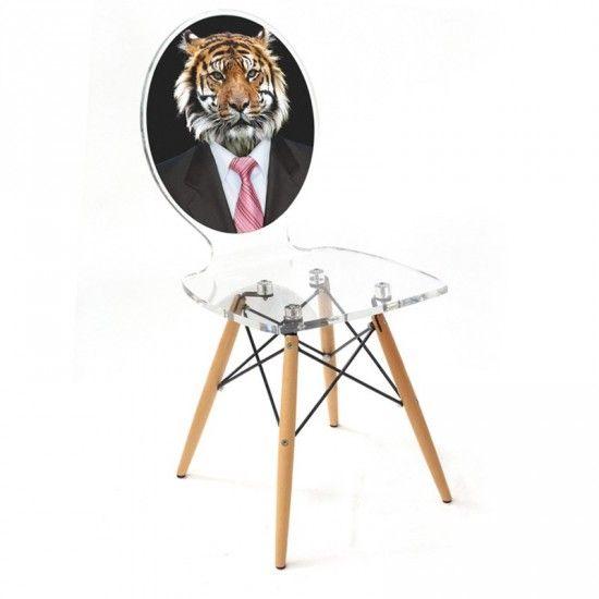Superbe Chaise En Plexi De Haute Qualit Pieds Bois La GRAPH TIGRE Est Une