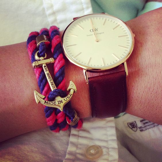 Danielwellington, Montres Bracelets, La Mode Des Choses, Ancre, Bijoux De Mode, Jolies Choses, Bracelets Dame, Choses, Wellington Bracelet