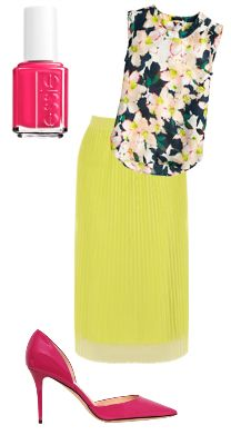 pink and yellow midi outfit for summer