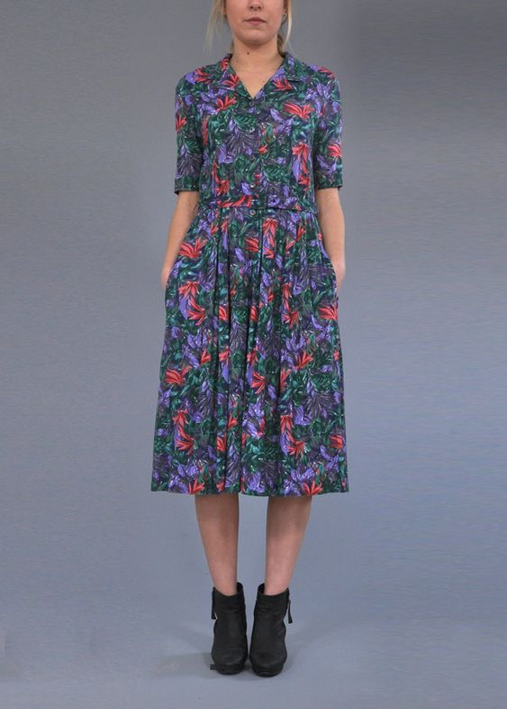 Floral Print Vintage Dress. Vintage Clothing Online. Vintage Deli ...