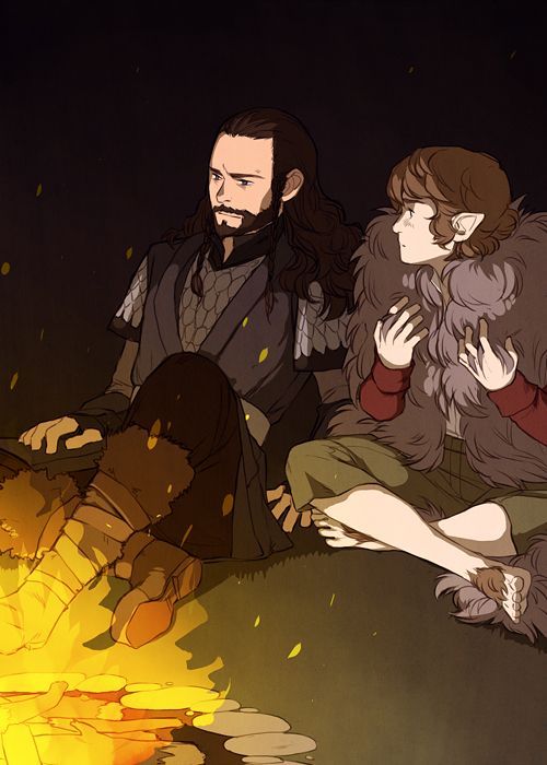 the hobbit thorin amp bilbo campfire thorin grudgingly