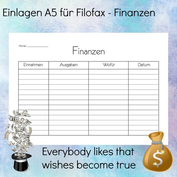Finanzplaner - Ein- und Ausgabenübersicht A5   von Notes and Paper auf DaWanda.com   #Taschenkalender