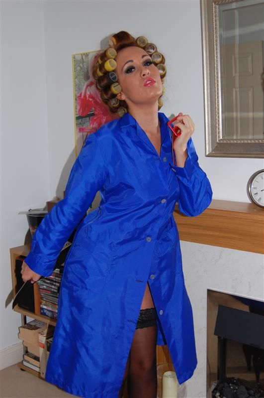 Ladies nylon taffeta overall in very shiny peacock blue. This is a great Christalor Leggings for Women Shipping: All orders will be dispatched within 1 working day by .