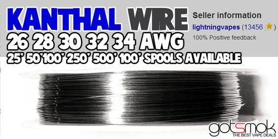Kanthal Wire Spool (26-34 AWG, 25-1000 feet) | GOTSMOK.COM