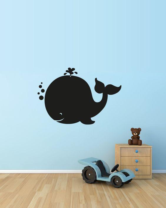 Lavagna adesiva per decorare le pareti dei tuoi bambini- Blackboard for children's room.  Creazione la Banda del Riccio www.etsy.com/shop/labandadelriccio