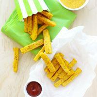 Baked Polenta Fries / Chips