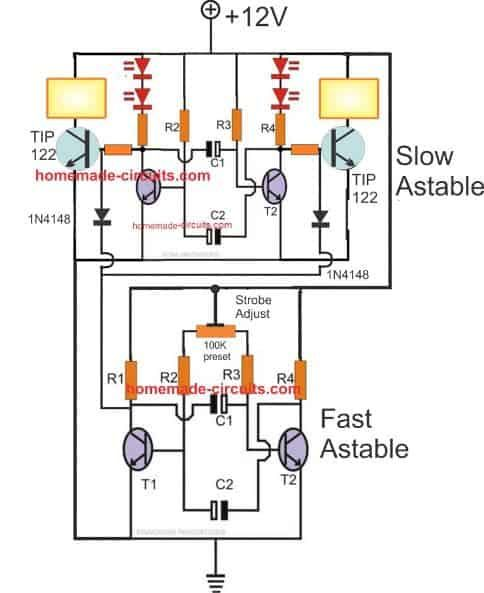 How To Make Any Light A Strobe Light Using Just Two Transistors In