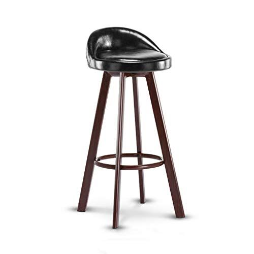 Furniture Industrial Style Wood Barstool Retro Chair With Pu Backrest And Cushion For Bar Cafe Kitchen Iron Bar Stools Modern Bar Stools Leather Bar Stools