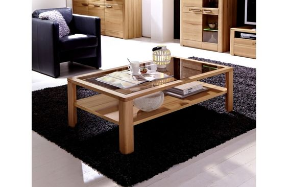Table basse en hêtre massif - Table basse de salon - Meuble et Canape.com