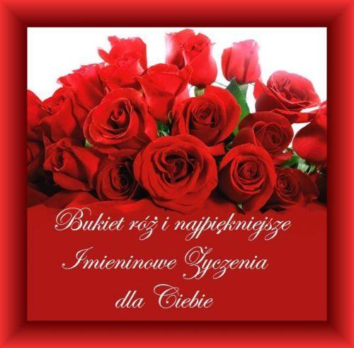 Kartka Pod Tytulem Najpiekniejsze Zyczenia Imieninowe Flowers Rose Plants