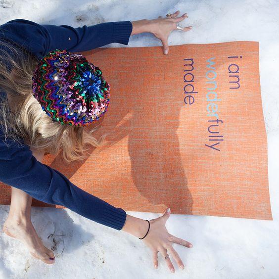 """i am wonderfully made"" Yoga Mat by Affirmats"