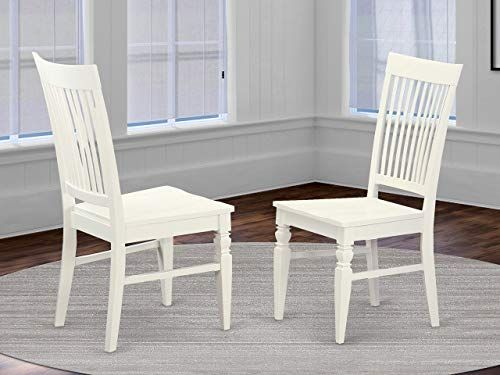 Buy East West Furniture Weston Dining Chair Linen White Wooden Seat Linen White Solid Wood Frame Dining Chair Set 2 Online Lovetopfashion In 2020 Dining Chairs Dining Chair Set Wooden Dining Chairs