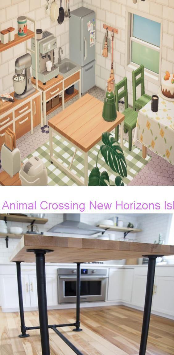 Animal Crossing New Horizons Island Ideas Diy Butcher Block Kitchen Island In 2020 Butcher Block Island Kitchen Animal Crossing Home Decor