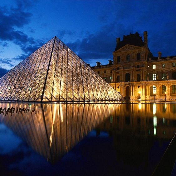 Louvre Pyramid in France