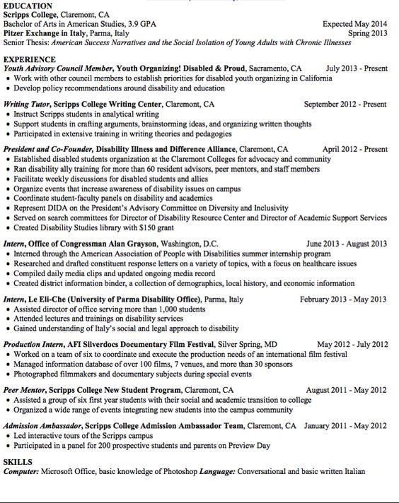 Writing Tutor Sample Resume