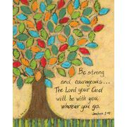 Be Strong and Courageous Tree Joshua 1:9 Canvas