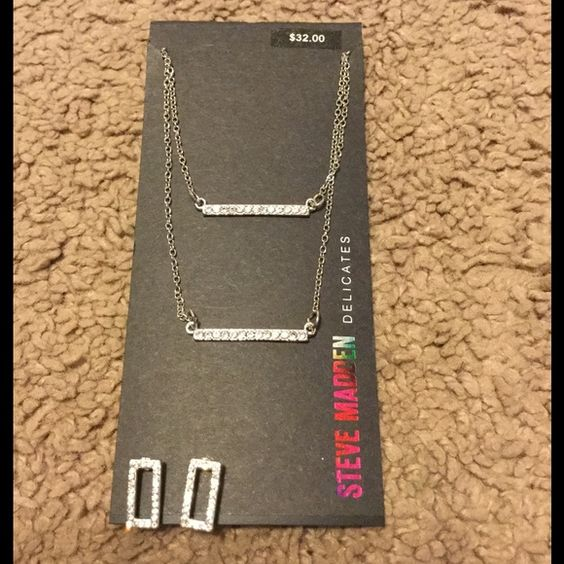Steve Madden Delicates jewelry set!  New never worn! Super cute!! Steve Madden Jewelry Necklaces