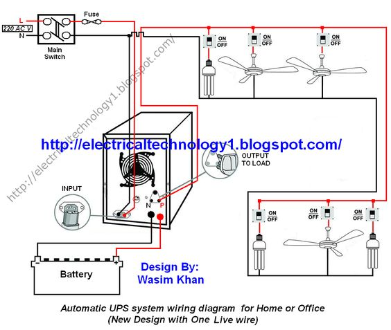 bb503e2463bfe06790c4aca3af8fe625 ups system circuit diagram automatic ups system wiring circuit diagram for home or office(new ups wiring schematic at alyssarenee.co