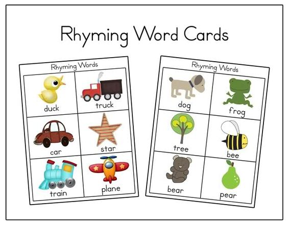 rhyming word worksheets for pre k rhyming words printable cards and on pinterestfree preschool. Black Bedroom Furniture Sets. Home Design Ideas