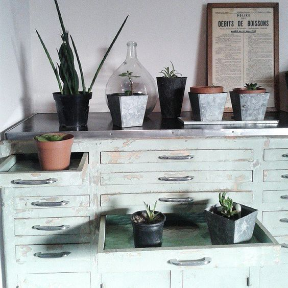 Meuble de dentiste, un coin de verdure chez soi, déco  home, décoration internaute @atelierrueverte