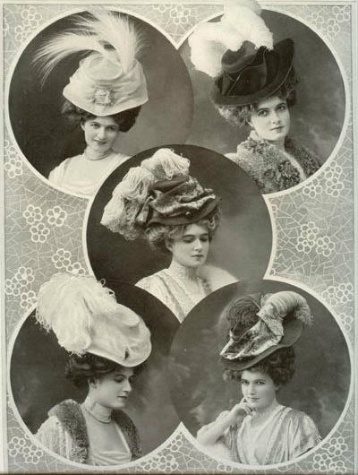 Hats, 1907  LOVE the feathers
