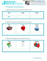 Printables Phoneme Worksheets phoneme homework pinterest the world s catalog of ideas substitution worksheets amp manipulation games