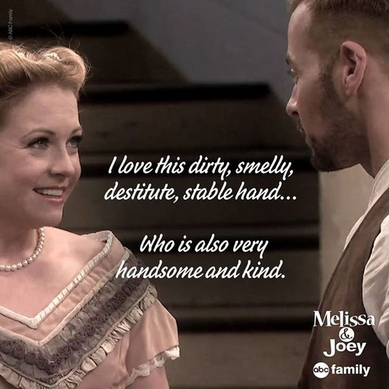 """S4x02 """"A Melanie & Josiah Christmas"""" - Lol…oh Melanie! You should've started with handsome and kind! #MelissaAndJoey"""