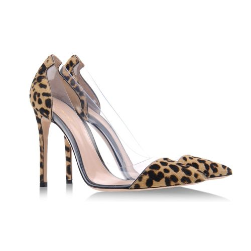 Gianvito Rossi animal-print PVC pumps #shoes #scarpe #pumps #decollete #animalier #pvc #transparent #heels #stilettos #fashion #moda