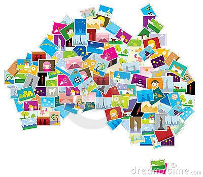 Abstract Australia map