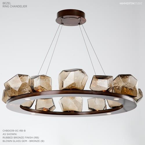 12 gem bezel chandelier by hammerton studio stunning stunning lighting c