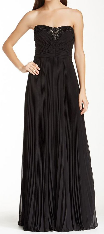 Accordion Pleated Gown @scrapwedo