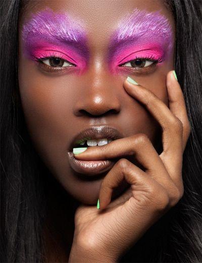 Ideas maquillaje de fantasía para chicas de raza negra