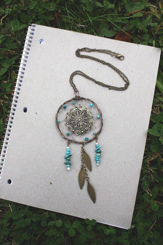 Large Brass Wire Wrapped Filigree Dream Catcher by SixDandyLions, $32.00