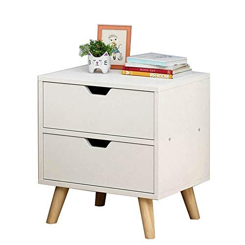 Bedside Table Xiaodong With 2 Drawers End Table Coffee Table Simple Night Stand Storage Unit 40x30x45cm Easy To Move Color B End Tables Wood End Tables