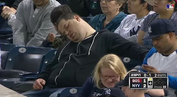 Guy Sues Yankees, ESPN Because He Was Caught On Camera Sleeping At A Game http://sayanythingblog.com/entry/yankees/?utm_campaign=coschedule&utm_source=pinterest&utm_medium=SayAnythingBlog.com%20(North%20Dakota%20Politics)&utm_content=Guy%20Sues%20Yankees%2C%20ESPN%20Because%20He%20Was%20Caught%20On%20Camera%20Sleeping%20At%20A%20Game