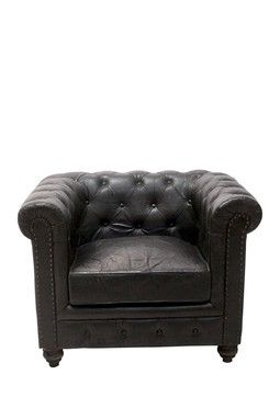Chesterfield Club Chair Raven