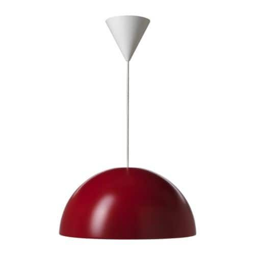 Ikea 365 Brasa Pendant Lamp Red Red 45 Cm Ceiling Lights Ikea Ceiling Light Pendant Lamp