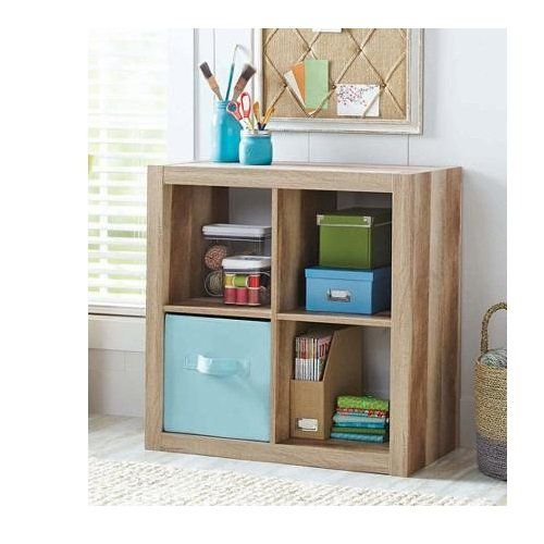 Better Homes And Gardens Bookshelf Square Storage Cabinet 4 Cube Organizer Weathered Better