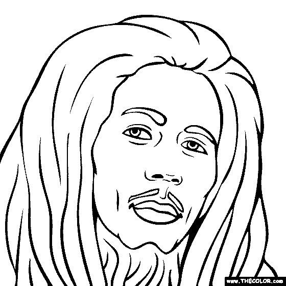 Bob Marley Coloring Pages