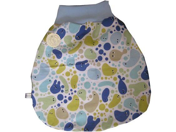 Strampelsäcke - Babyschlafsack Strampelsack Hellblau - ein Designerstück von me-kinderkleidung bei DaWanda