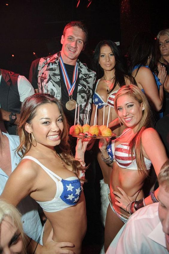 Olympic Gold Medal Swimmer Ryan Lochte Celebrates at TAO Worship Thursday