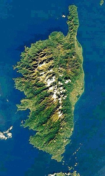 Corsica, aerial view. Looks like a woman reaching for the stars .......