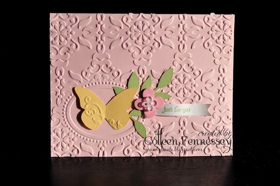 Double Embossing Card by Colleen Fennessey.