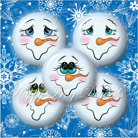 Snowman faces, Collage sheet and Snowman on Pinterest
