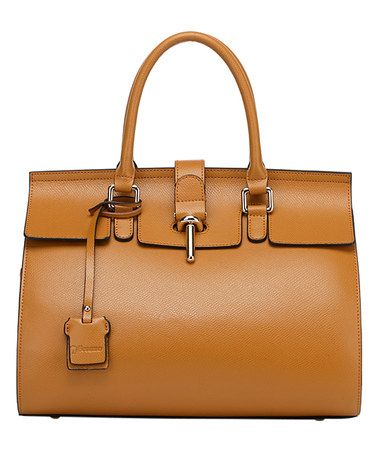 Love this Brown Caine Leather Satchel on #zulily! #zulilyfinds