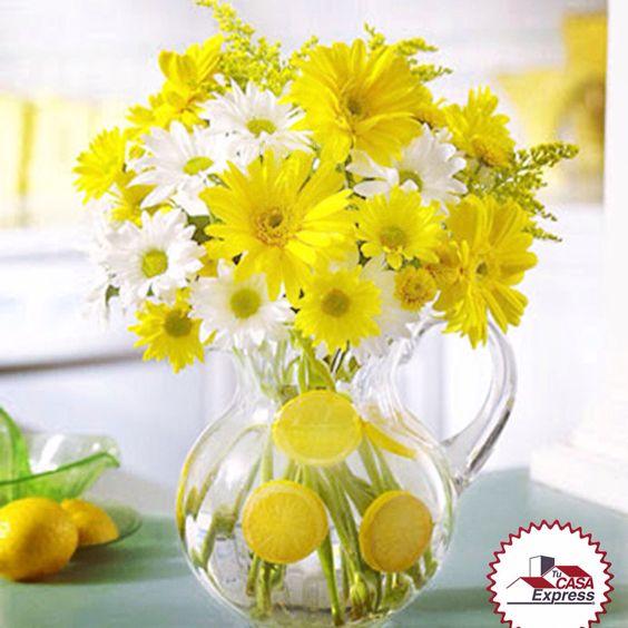 Crea tus propios centros de mesa con aroma a limón. ¿Te gusta la idea?