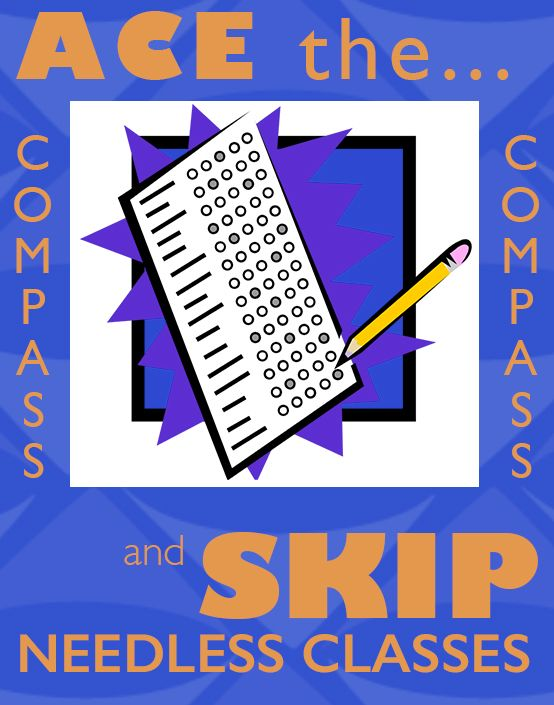 Need help with the COMPASS test? ACT Compass is an untimed, computerized test that helps your college evaluate your skills and place you into appropriate courses. Compass offers tests in reading, writing, math, writing essay, and English as a Second Language (ESL). Get started studying today!