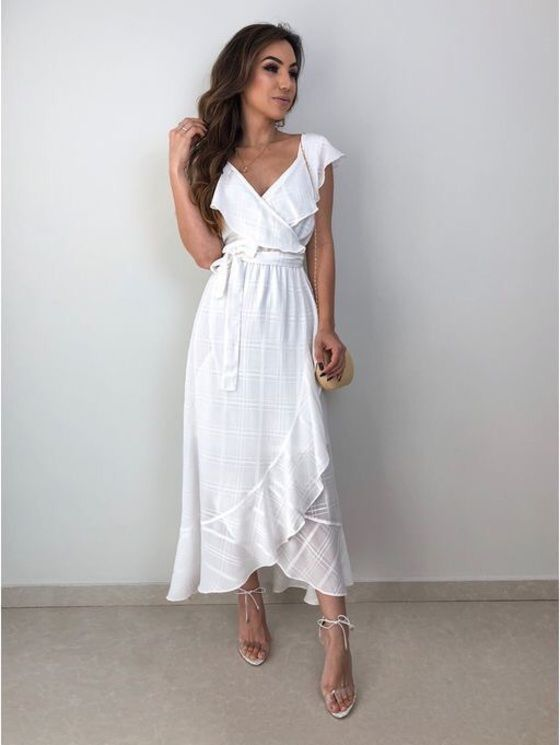 dress,white dress,white,maxi dress,midi dress,bow,ruffle,ruffle dress,v neck dress,v neck,sleeveless,sleeveless dress,summer,summer dress,summer outfits,holiday dress